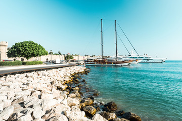 Marina and Yachts in Rhodes,Greece