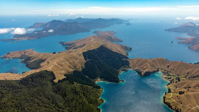 Island view in sea New Zealand