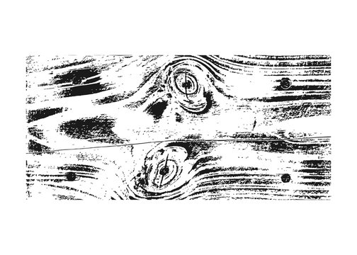 Wood texture white black. Wooden planks pattern overlay texture. Grunge sketch effect. Crack motif for design wall, floor, rustic, old, rough. Stylish retro abstract background. Vector illustration