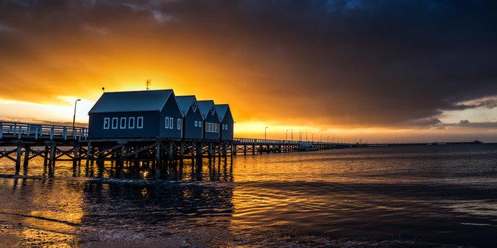 Sunset jetty pier
