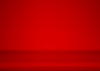 Wall Mural - Empty red product showcase background