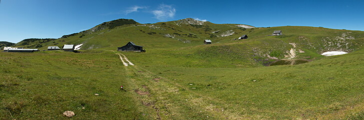 View of the Almboden on Schneealpe in Lower Austria, Europe