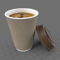 Americano coffee in disposable cup