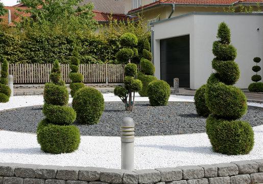 Steingarten mit Formgehölzen