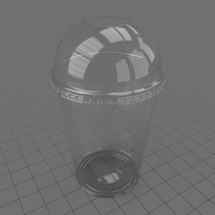 Plastic cup with dome lid