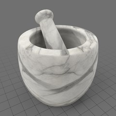 Marble mortar and pestle 2