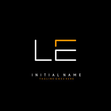 Initial L E LE minimalist modern logo identity vector