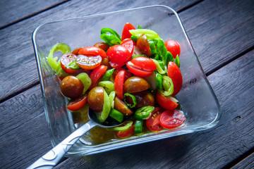 Grape Tomato Hot Pepper Salad