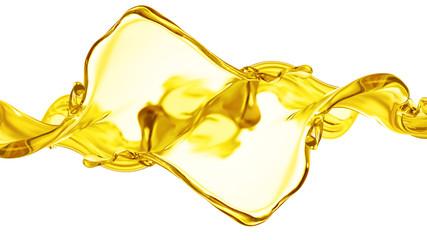 Splash oil 3d illustration, 3d rendering.