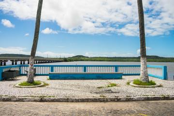 A view of the promenade by the Santa Cruz Canal in Itapissuma - Pernambuco, Brazil