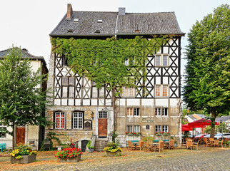 Fachwerkhaus im historischen Ortskern von Kornelimünster