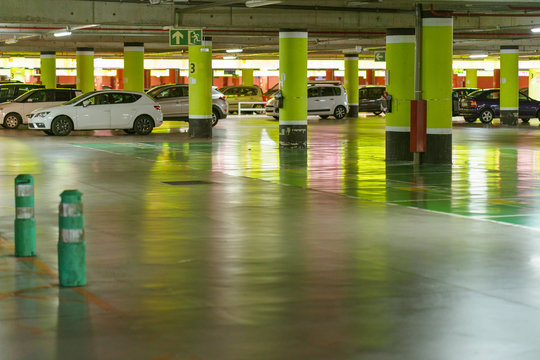 Photography of parking at day time. High resolution photo.