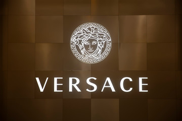 Detail from Versace shop in Doha, Qatar. It is an Italian fashion company founded by Gianni Versace in 1978.