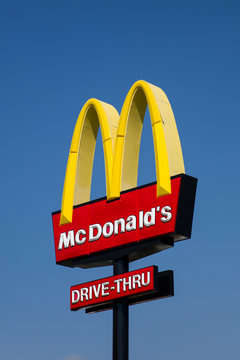 Detail from McDonald restaurant in Limassol, Cyprus. It is an American fast food company, founded in 1940