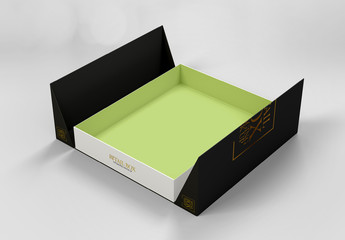 Rigid Box with Folding Cover Mockup