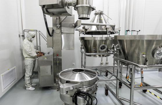 Drug manufacturing laboratory equipment.