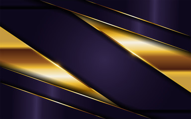 luxurious dark purple background with golden lines combination. elegant modern background.