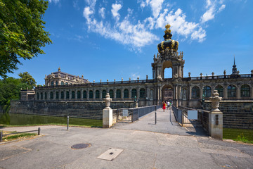 Zwinger Palace,  museum complex and most visited monument in Dresden, Germany