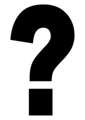 gz392 GrafikZeichnung - german: Fragezeichen / Frage: english - question mark / question: simple template - DIN A2, A3, A4 - g8396