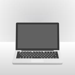 Portable laptop computer (Front view)