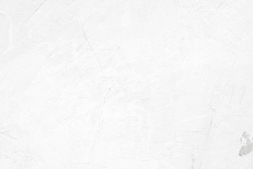 Fotobehang - White concrete stone surface paint wall background, Grunge cement paint texture backdrop, White rough concrete stone wall background, Copy space for interior design background, banner, wallpaper