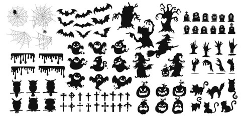 The shadow collection of ghosts decorate the website in the Halloween festival. Wall mural
