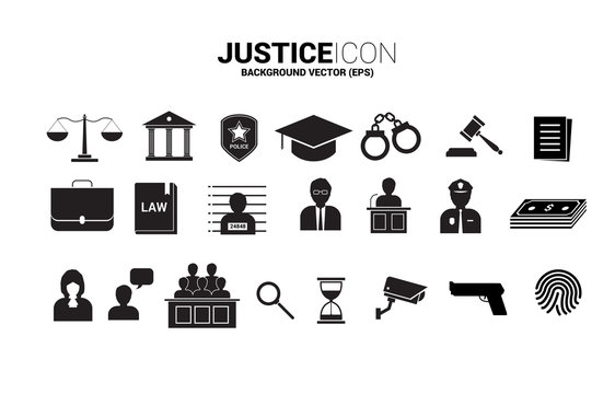 Justice and investigation icon. Background Concept of crime and law system