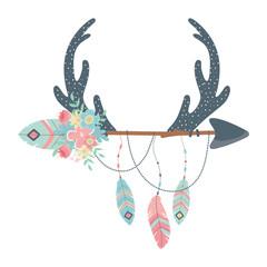 Isolated boho horns design vector illustration