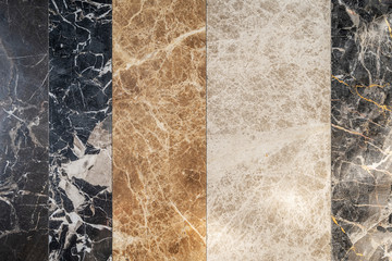 Pattern of multicolor of marble plate decorated on wall. Abstract background. Luxury and elegant backdrop.