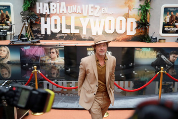 """Brad Pitt poses for a photo during the red carpet for """"Once Upon a Time in Hollywood"""" in Mexico City"""