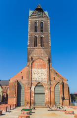 Fotomurales - Remains of the St. Mary's church in Wismar, Germany