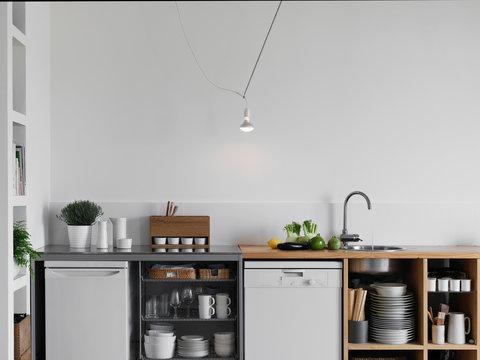 interior shot of a modern kitchen