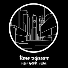 Circle Icon time square. sign symbol.vector illustration