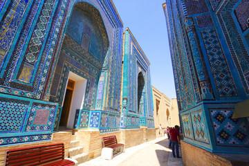 Shah-i-Zinda (Shohi zinda) necropolis, Samarkand, Uzbekistan