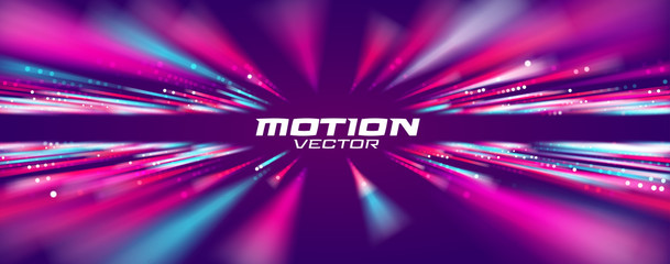 Motion speed line abstract vector background, Moving effect light. Fototapete