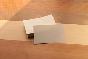 Business card image for branding identity