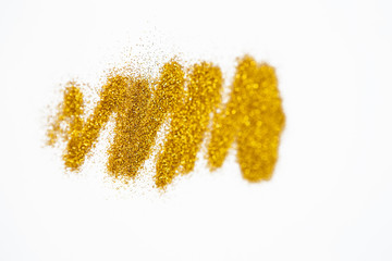 Gold glitter background for your design