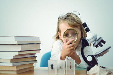 little girl scientist