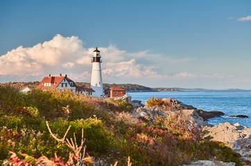 Portland Head Lighthouse at Cape Elizabeth, Maine, USA.
