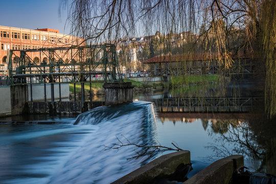 Backnanger Biegelwehr an der Sulzbacher Brücke