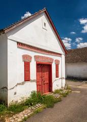 Traditional wine cellars in Palkonya, Hungary