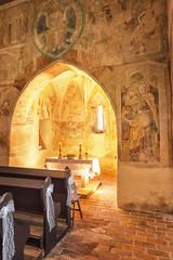Famous medieval church of Velemér