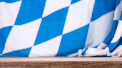 Bavarian Flag As A Background For Oktoberfest.