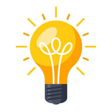 Innovative idea modern stylish icon with light bulb