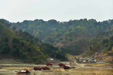 North Korea. Gold mining