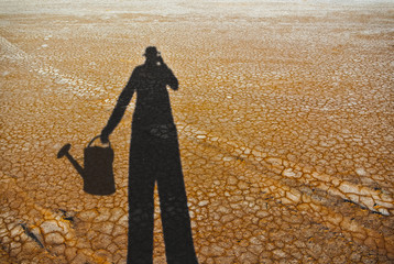 Water crisis created by climate change leading to deserts