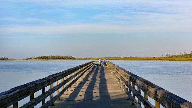 Fishing Pier in the morning sun