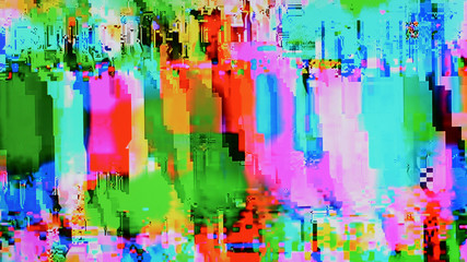 Color tv weak signal – photo taken from color tv screen (16:9 aspect ratio)