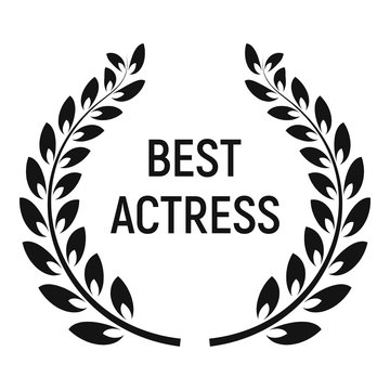 Best actress award icon. Simple illustration of best actress award vector icon for web design isolated on white background