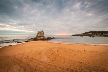 Camello Beach in Santander, Cantabria, Spain.